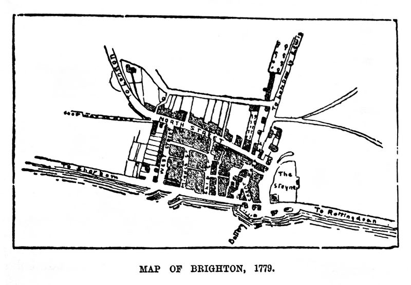 Map of Brighton as it was in 1779  (Nash's Guide to Brighton, 1885)