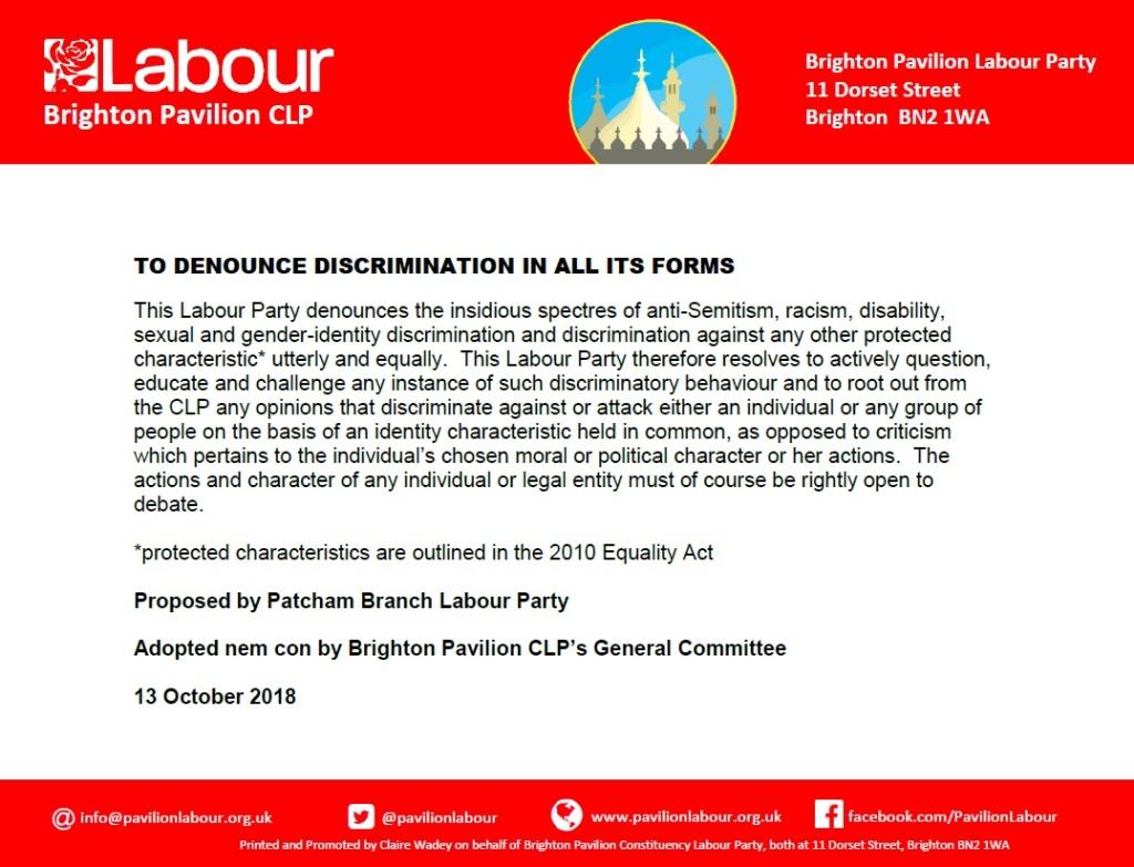 Denounce all discrimination_13.10.18