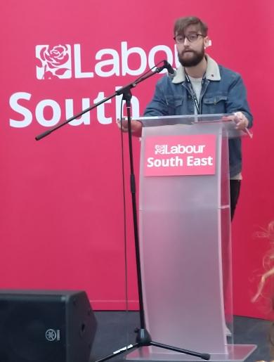 Gabriel McCook moves Pavilion Labour's motion at #LabSE18