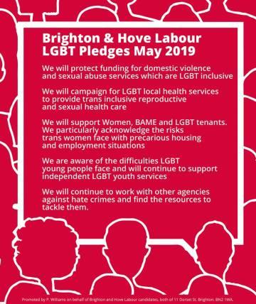 LGBT+ pledges